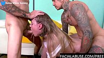 b. raw anal and hard throat a. for blonde whore