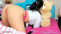 Novinha Safada brincando e chupando gostoso o PAU do teu urso de Pelucia - Hot teen Playing and sucking her Teddy cock Creampie
