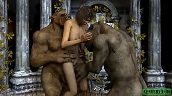 Double penetrated by Ogres. 3DX animation 5 min
