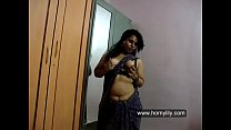 Horny Lily Squeezing Her Big Boobs In Mumbai Apartment