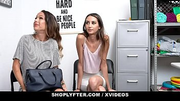 ShopLyfter - Huge Tits Milf (Mckenzie Lee) and Hot StepDaughter (Natalia Nix) Give Head To Avoid Jailtime 13 min