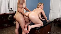 Blonde therapist anal fists big ass babe