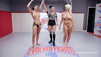 London River wrestles Penny Barber and gets beat and fucked 16 min