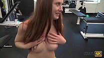 HUNT4K. Magnificent young girl Linda Sweet loves just sports, money, and sex 10 min