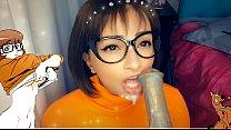 Velma & the Monster Creampie - Velma CHUPANDO gostoso o Pau do Monstro ate encher a Boquinha de Leitinho - Scooby Doo