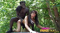 Female Fake Taxi Horny driver Princess Jas is hungry for black cock 12 min
