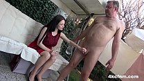 CFNM - Just Wanked an Old Perv in the Backyard