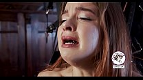 Weeping girl whipped on her clit