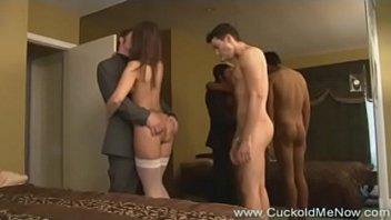 Cuckold Fantasies 13 hot wives cuckold husbands creampie eating sex and c. bi cock sucking