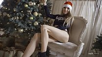 Sexy Nudex Christmas with a promiscuous blonde girl