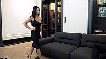 Escort Casting - Dark Hair Big Breast Romanian Nelly Kent Gets Put On Leash