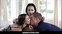 Foster Mom MILF With Big Tits Crystal Rush Threesome With New Foster Teenage Daughter And Son