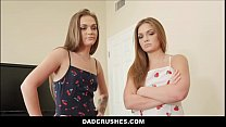 Petite Real Teen Twin Sisters Family Fuck Threesome With Big Dick Filthy Rich Step Dad