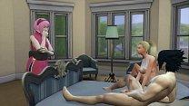 Sakura Encuentra a su amiga Ino con su Esposo Sasuke Cuarto Matrimonial Naruto Hentai NTR 13 min
