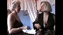 Two Grannies play in Lingerie and Stockings 30 min