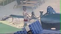 Voyeur couple caught fucking in a hotel pool (sneakyvoyeur.com) 5 min
