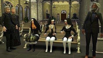 Padres Católicos Abusan y Se Follan a las Nuevas Monjas Inocentes En El Templo 3D Porn Hentai