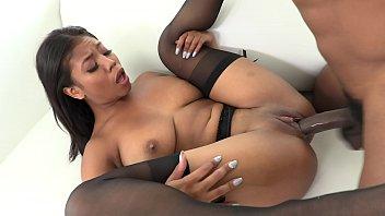 AllBlackX - Gorgeous Ebony Takes BBC