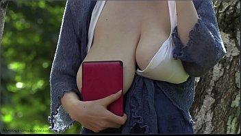 saggy natural big tits in public 2 min