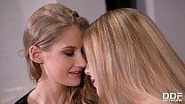 Horny Euro babes Tiffany Tatum and Alecia Fox eat out each other's pussies