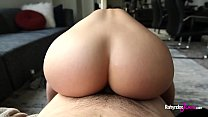 Anal sex with Rahyndee James perfect pawg booty and natural big tits fucking POV 12 min