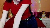 Brunette amateur in bra on webcam