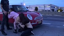 RISKY PUBLIC SEX!!!! THREESOME IN THE STREET AND INSIDE THE IKEA