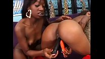 Two cute teen black hotties Hydie Waters and Taylor Starr tongue each others' pussies and fuck sex toy 29 min