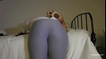 Round ass punished with belt and paddle