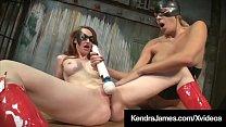 Costumed Milf Kendra James Binds & Bangs Kitty Nikki Brooks!