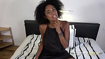 Cocktease in a little black dress shows off her oral skills