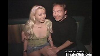 Hottie Titties Blonde Slut Fucks Porno Theater 5 min