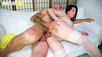 AMATEUR EURO - Romanian MILF Paola Diamante Tries Her Luck With Anal Sex On Casting Couch 10 min