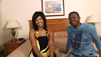 Kinky black couple fuck on camera for the first time 10 min