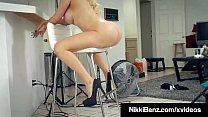 Busty Pornstar Nikki Benz Gets Pussy Fucked To Total Orgasm!