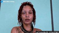 Latina Lulu gets a b. facefuck