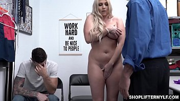 Christie Stevens went to the police station after her stepson caught shoplifting. She begs to fucks with the cop to get her stepson out of trouble.
