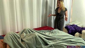 Stepmom catches stepson masturbating and addicted to porn