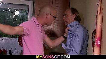 Young cheater riding old man big cock
