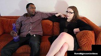 Big Black Bro Rome Major Nuts On Milky White Buddy's Sister! 10 min