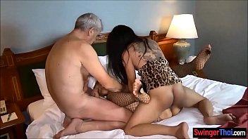 Amateur couple invites ladyboy for a threesome fuck