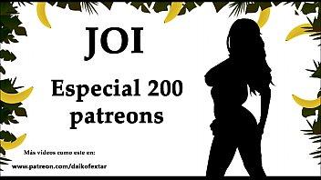 JOI Especial 200 patreons, 200 corridas. Audio en español. 7 min