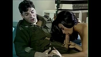 Brunette fucked by soldier...anal