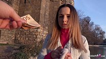 GERMAN SCOUT - TINY COLLEGE GIRL MONA IN JEANS SEDUCE TO FUCK AT REAL STREET CASTING