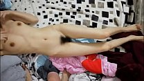 Homemade sex video with skinny hairy Chinese teen girl