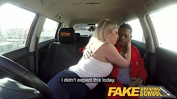 Fake Driving School Big Black cock stretches cheating wet pussy 11 min