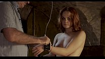 White slave girl whipped on her breast