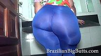 BrazilianBigButts.com granny ssbbw MadamButt fat ass wearing leggings
