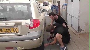Fix his car and fucks him. Israeli boy
