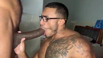 Brazilian sucking monster black cock